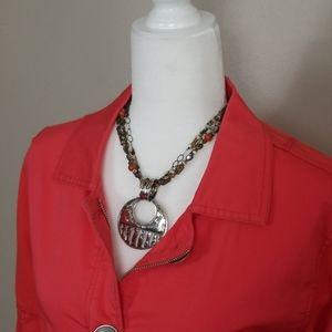 Silpada ~ Classic Pendant on Multi Strand Necklace